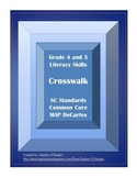 Literacy Skills Crosswalk Checklist Common Core MAP DeCartes