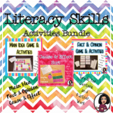 Literacy Skills Games & Activities -Main Idea, Fact or Opinion, Cause & Effect