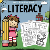 Literacy Skills Practice Packet - No Prep - Distance Learning