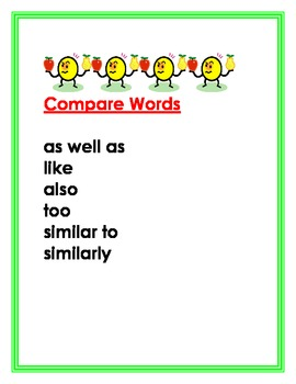 Literacy Skills Signal Words