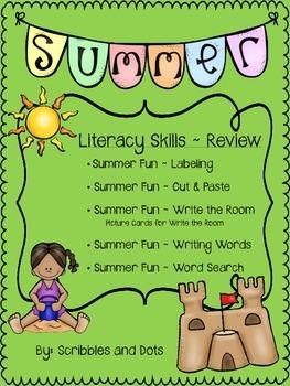 Literacy Skills ~ Summer Fun