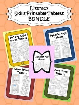 Literacy Skills Tablets {BUNDLE}