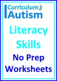 Literacy Skills Distance Home Learning Packet Autism