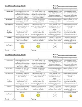Literacy Small Group Rubric