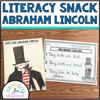 Literacy Snack Idea Abraham Lincoln
