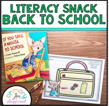 Literacy Snack Idea Back To School