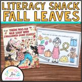 Literacy Snack Idea Fall Leaves