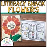 Literacy Snack Idea Flowers