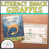 Literacy Snack Idea Giraffes