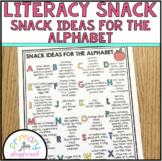 Literacy Snack Idea - Snack Ideas for the Alphabet