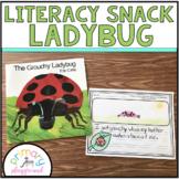Literacy Snack Idea Ladybug