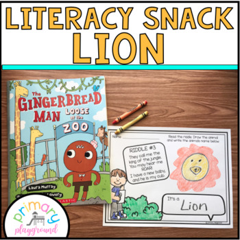 Literacy Snack Idea Lion