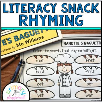 Literacy Snack Idea Rhyming