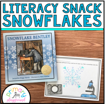 Literacy Snack Idea Snowflakes