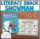 Literacy Snack Idea Snowman