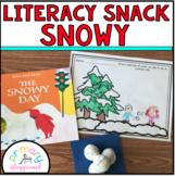 Literacy Snack Idea Snowy
