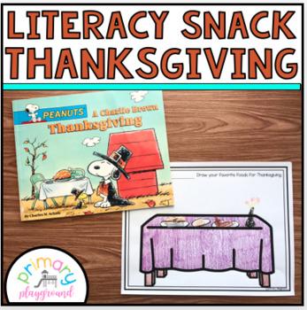 Literacy Snack Idea Thanksgiving