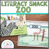 Literacy Snack Idea Zoo