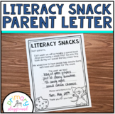 Literacy Snack Parent Letter
