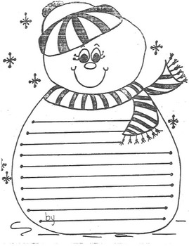 Literacy- Snowman Creative Writing Template
