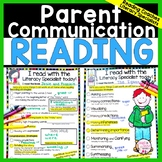 Reading Parent Communication Forms for Literacy Specialist