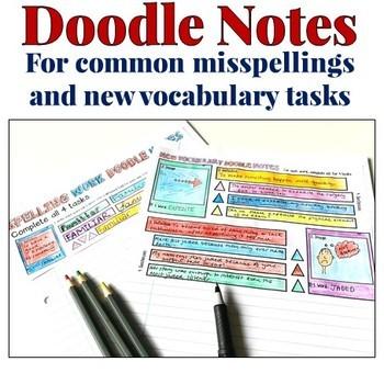 Literacy Spelling Vocabulary Tasks