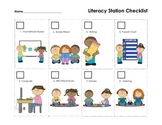 Literacy Station Bundle: Station checklist, cards and posters