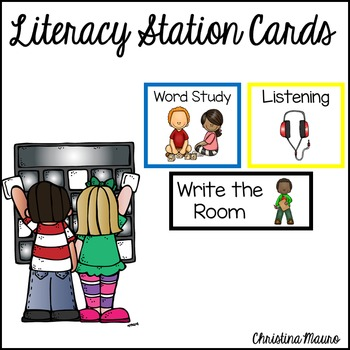 Literacy Station Cards