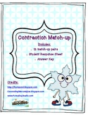 Literacy Station - Contraction Match-up: Winter Themed