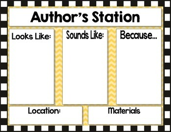 Literacy Station Expectation Cards