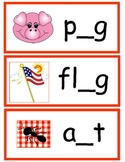Literacy Station- Fill in the Middle Sound