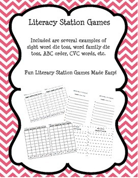 Literacy Station Games & Word Work Centers