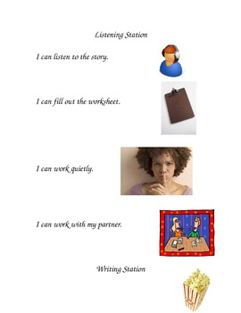 """Literacy Station """"I Can"""" Charts"""