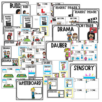"""Literacy Station """"I Can"""" Task Cards"""