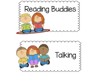 Literacy Station Labels
