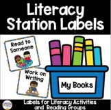 Daily 5/ Literacy Station Labels for Rotations/ Centers