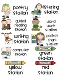 Literacy Station Labels (for use with checklist)