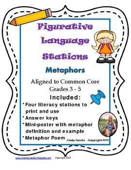 Literacy Station Metaphors Figurative Language
