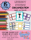 Literacy Station Organization (English & Spanish): Posters, Labels and More!