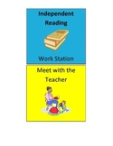 Literacy Station Pocket Chart Cards