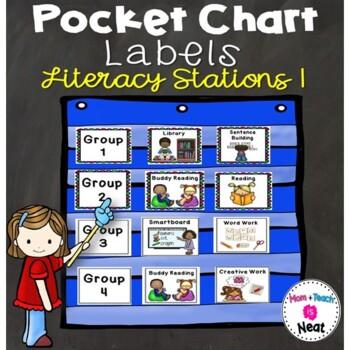 Literacy Station Pocket Chart Labels