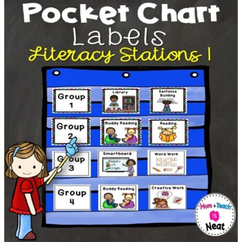 Literacy Station Pocket Chart Labels