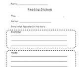 Literacy Station Recoding Sheets