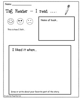 Literacy Station Response Sheets