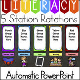 Literacy Station Rotation Automatic PowerPoint (Custom Request)