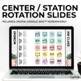 Literacy Station Rotation Slides | Centers Slides | Google Docs™