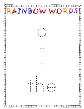 Literacy Station Sight Word Fun!  Rainbow Words