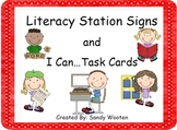 Literacy Station Signs, Pocket Chart Cards, and over 140 I Can...Task Cards!