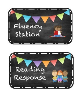 Literacy Station Signs mini