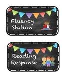Literacy Station Signs mini